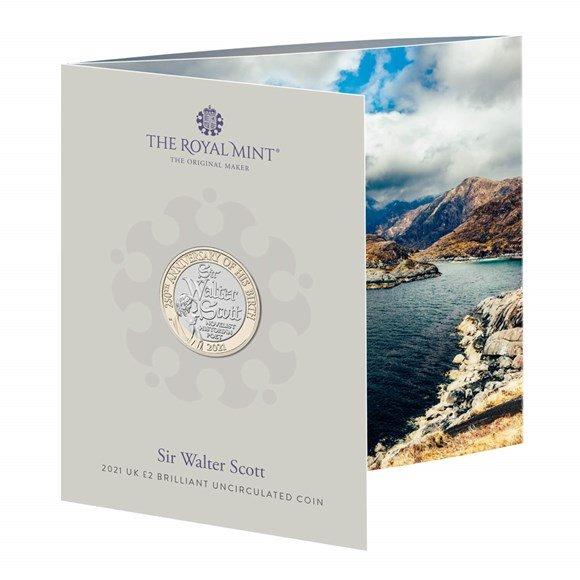 Sir Walter Scott £2 Brilliant Uncirculated Coin