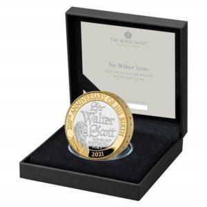 Sir Walter Scott Silver Piedfort Coin