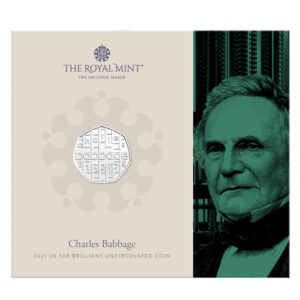Charles Babbage 2021 UK 50p Brilliant Uncirculated Coin