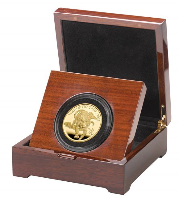 Lunar Year of the Tiger 2022 United Kingdom Five-Ounce Gold Proof Coin