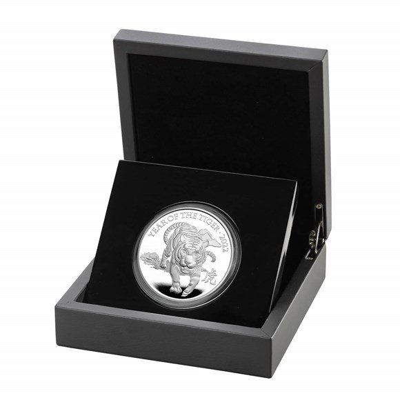 Lunar Year of the Tiger 2022 United Kingdom Five-Ounce Silver Proof Coin