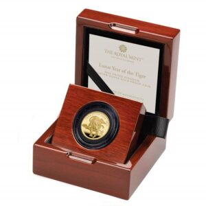 Lunar Year of the Tiger 2022 United Kingdom Quarter-Ounce Gold Proof Coin