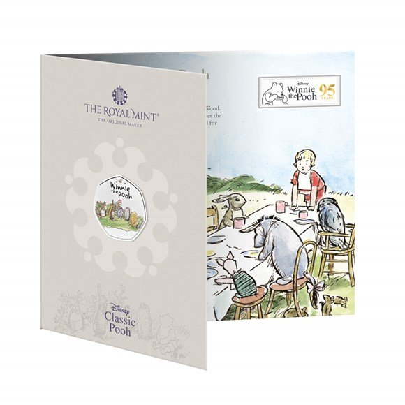 Winnie the Pooh & Friends 2021 UK 50p Brilliant Uncirculated Coloured Coin