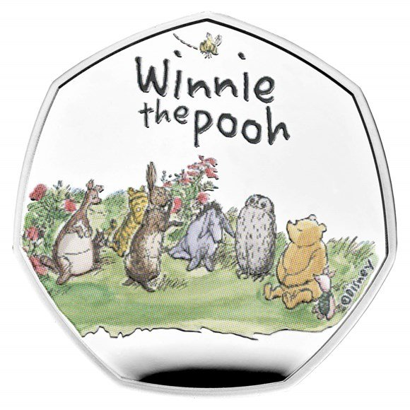 Winnie the Pooh & Friends 2021 UK 50p Silver Proof Coin