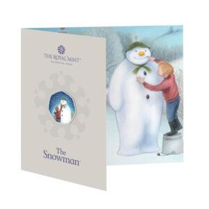 2021 The Snowman 50p Brilliant Uncirculated Colour Coin