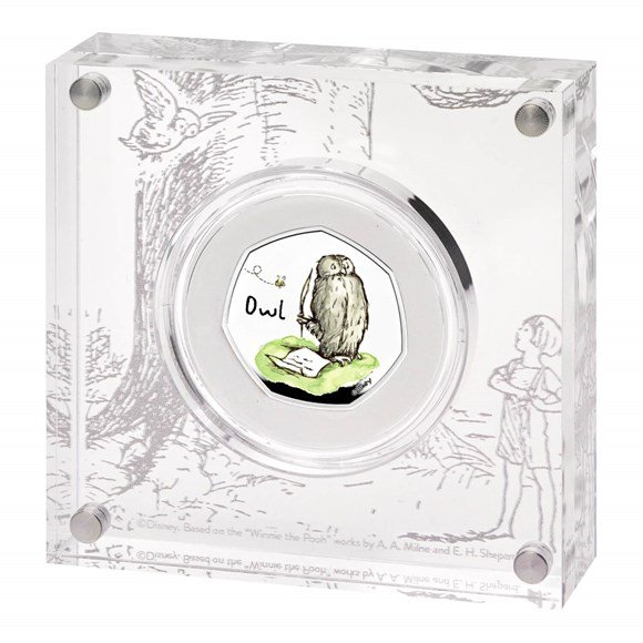 Owl 2021 UK 50p Silver Proof Coin