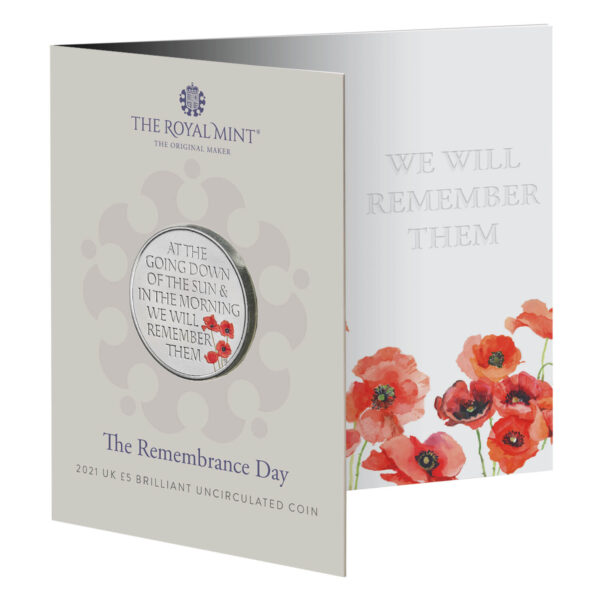 The Remembrance Day 2021 UK £5 Brilliant Uncirculated Coin