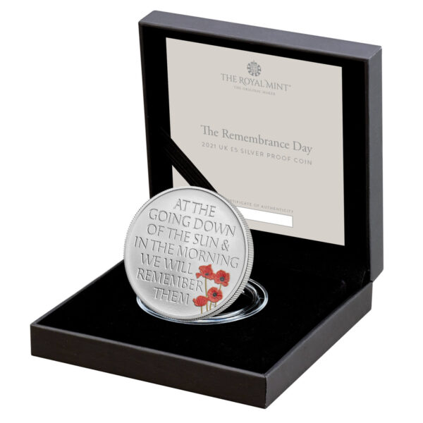 The Remembrance Day 2021 UK £5 Silver Proof Coin