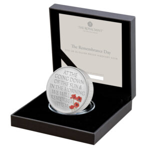 The Remembrance Day 2021 UK £5 Silver Proof Piedfort Coin