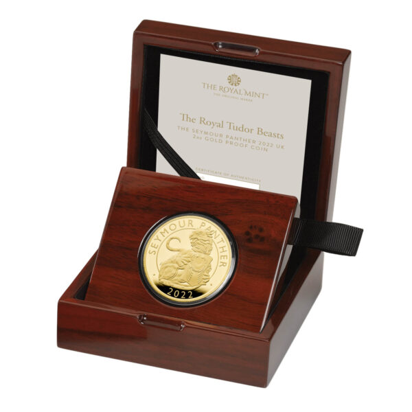 The Seymour Panther 2022 UK 2oz Gold Proof Coin